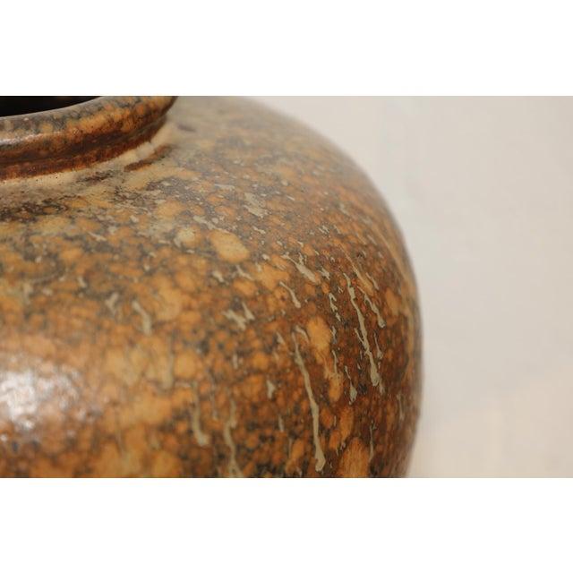 Hiroshi Nakayama and Judy Glasser large Earthenware vessel with a marbelized drip glaze patterning. Impressive and heavy....