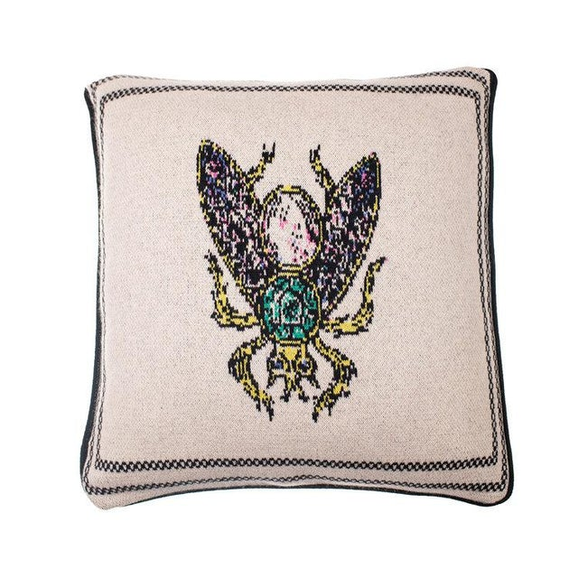 Contemporary Fee Greening - Bee Cashmere Pillow For Sale - Image 3 of 3