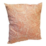 Image of Pretty Custom Fortuny Fabric Pillow For Sale