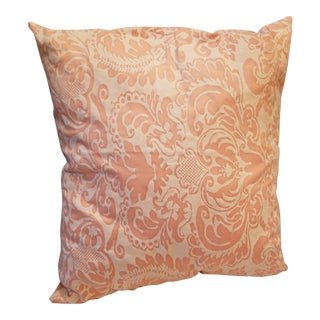 Pretty Custom Fortuny Fabric Pillow For Sale