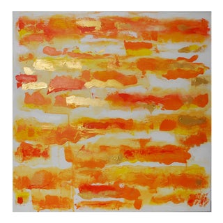 "Original Abstract Painting, ""Mango Sunset"" by Sherry Garrett For Sale"
