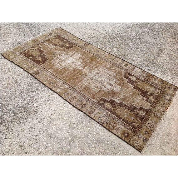 Islamic Vintage Oushak Rug - 3′9″ × 5′5″ For Sale - Image 3 of 6