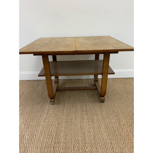 Mid 20th Century American Deco Side Table With Pivoting Fold-Out Top For Sale - Image 5 of 10
