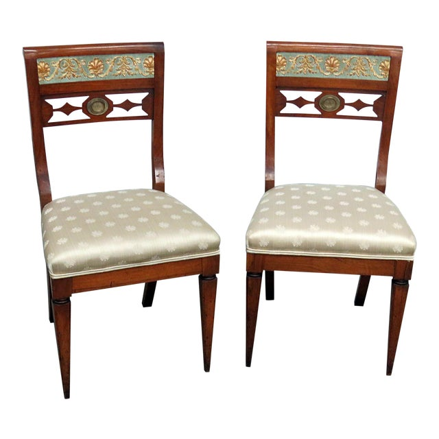 Early 20th Century Antique Austrian Side Chairs- A Pair For Sale