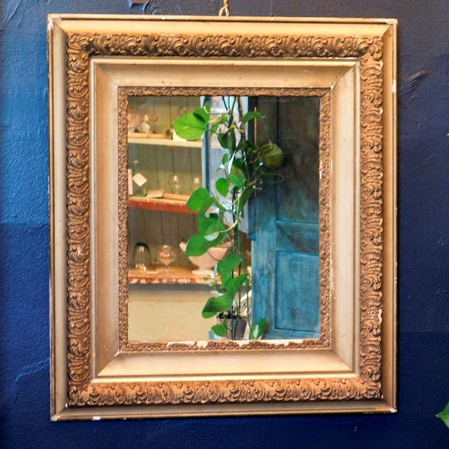 Antique Early 20th Century Gold Chippy Mirror For Sale In San Francisco - Image 6 of 6