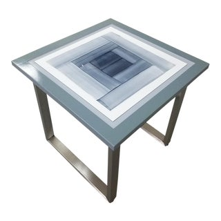 Contemporary BB Giordano Be Squared Gris Art Table For Sale