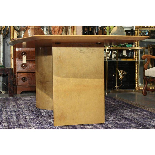 Aldo Tura Lacquered Goatskin Dining Table With Knife-edge Top - Image 8 of 11