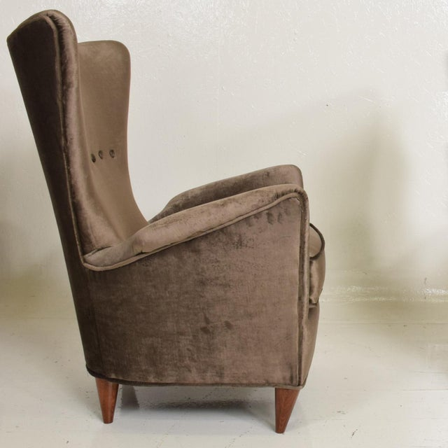 Gio Ponti Mid Century Modern Pair of Arm Chairs by Gio Ponti for Bristol Hotel in Merano Italy For Sale - Image 4 of 12