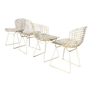 Harry Bertoia for Knoll Wire Side Chairs - Set of 4 For Sale