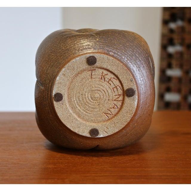 Tan Tim Kennan Ceramic Vase For Sale - Image 8 of 9