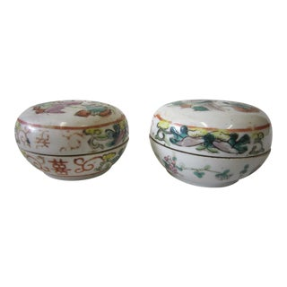Chinese Covered Bowls - a Pair For Sale