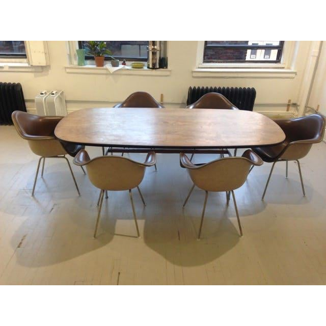 Animal Skin 1960s Mid-Century Eames Conference or Dining Set For Sale - Image 7 of 8