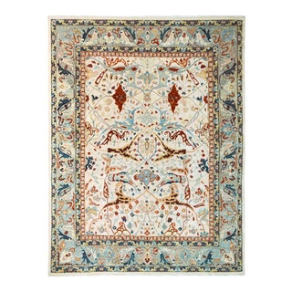 "Peshawar Ivory & Gray Wool Rug - 11'11"" X 14'6"" For Sale"