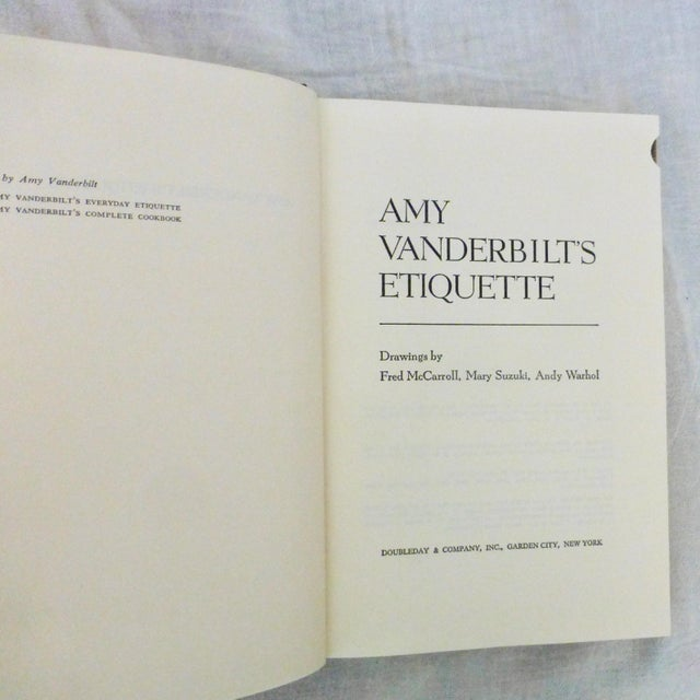 A special vintage book for Etiquette collectors: this 1978 revised and reset edition of Amy Vanderbilt's Etiquette book....