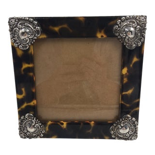Contemporary Linda Levinson Faux Tortoise Photo Frame For Sale