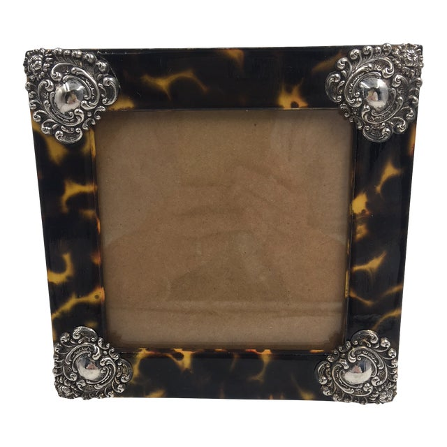 Contemporary Linda Levinson Faux Tortoise Photo Frame For Sale