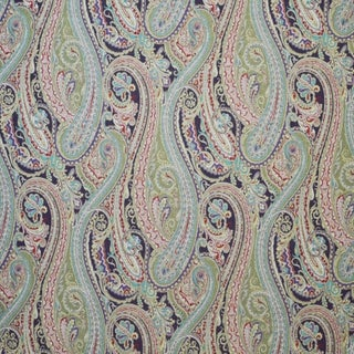 Boho Chic Clarence House Orsini Paisley Linen Designer Fabric by the Yard Preview