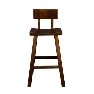 Handmade Solid Wood Bar Stool