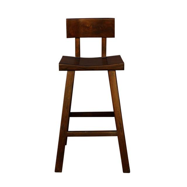 Handmade Solid Wood Bar Stool For Sale