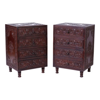 Anglo-Indian Nightstands - A Pair For Sale