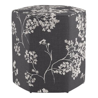 Hexagonal Ottoman in Branches For Sale