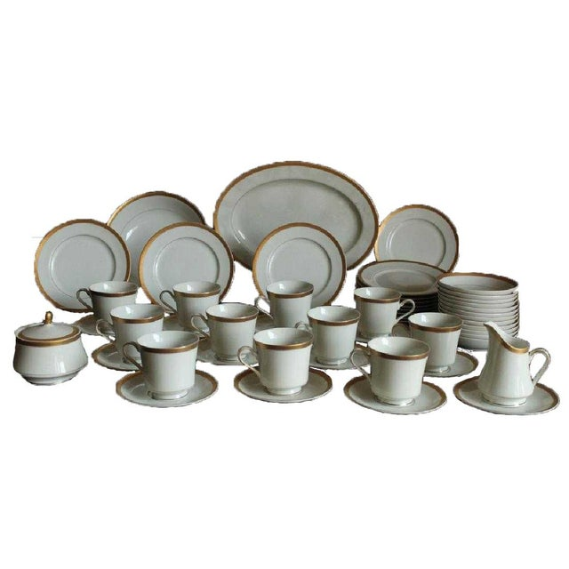 Ceramic Mikasa Colony Gold China C. 1970, 51 Pieces For Sale - Image 7 of 7