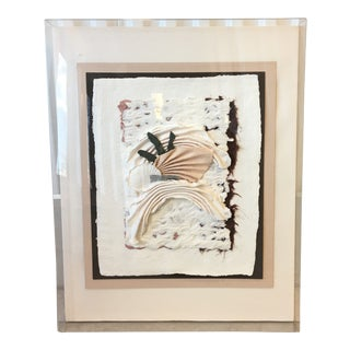 Vintage Mixed Media Artist Signed Wall Art For Sale