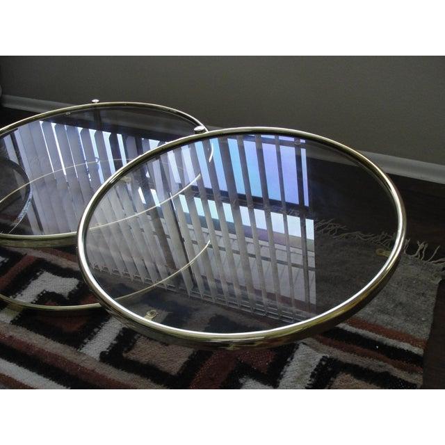 Milo Baughman Smoked Glass Swivel Table - Image 6 of 8