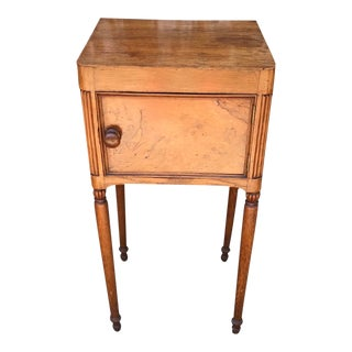 Antique Traditional Burl Wood Side Table For Sale