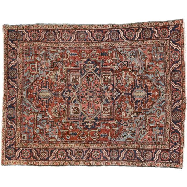 """Antique Persian Heriz Rug - 8' x 10'1"""" - Image 7 of 7"""