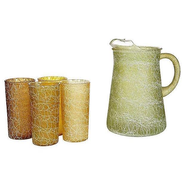 1960's White String Beverage Set - Set of 5 For Sale