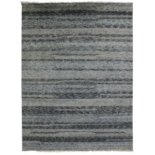Moroccan Style Contemporary Modern Gray Wool Rug - 10′1″ × 13′5″ For Sale
