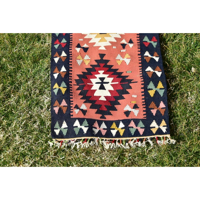 Vintage Hand Knotted Traditional Southwestern Style Anatolian Kilim Rug For Sale - Image 4 of 13