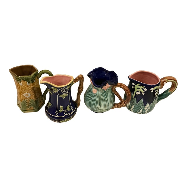 Jay Wilfred for Charles Sadek Inc. Majolica Pitchers - Set of 4 - Image 1 of 11