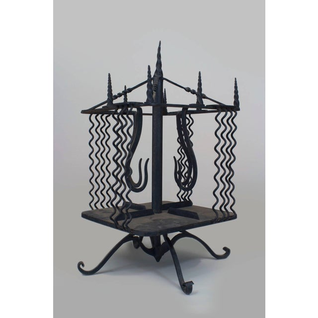 Turn of the Century Italian Renaissance Style Revolving Book Stand For Sale - Image 4 of 4