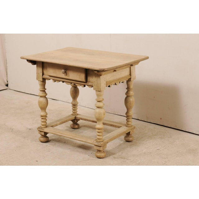 18th Century 18th Century Swedish Period Baroque Wood Side Table on Turned Legs For Sale - Image 5 of 12