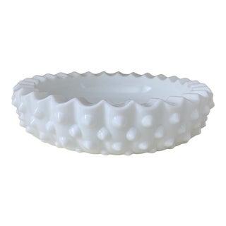 Vintage Hobnail Milk Glass Bowl For Sale
