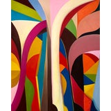 """Image of """"Escalier Lefuel"""" Abstract Colorful Painting by Andrea Ferrigno For Sale"""