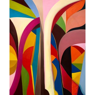 """Escalier Lefuel"" Abstract Colorful Painting by Andrea Ferrigno For Sale"