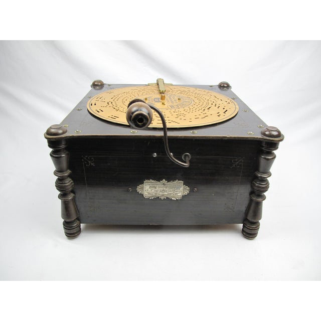 Ariston Organette Music Box Player With Punched Paper Records For Sale - Image 4 of 10