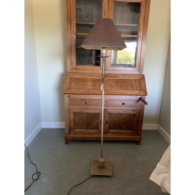 Bronze Leaf and Acorn Motif Standing Lamp For Sale - Image 10 of 11