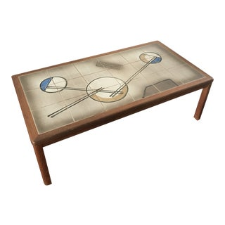 Danish Modern Mobler Tile Top Coffee Table For Sale