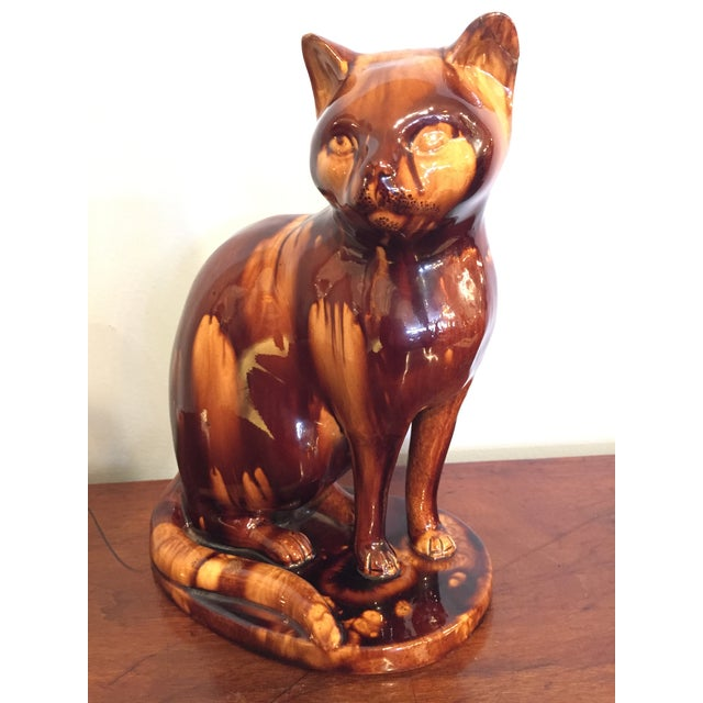 Traditional English Treacleware Cat Figure For Sale - Image 3 of 10