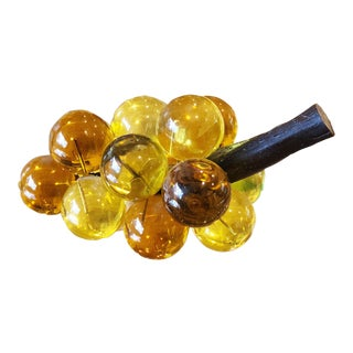 Vintage Yellow & Amber Glass Grapes