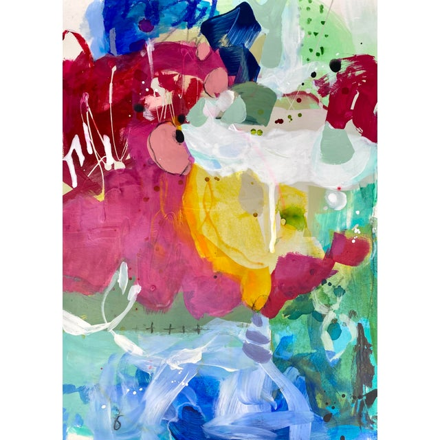 """""""And Then They're Gone"""" Contemporary Abstract Mixed-Media Painting by Gina Cochran For Sale"""
