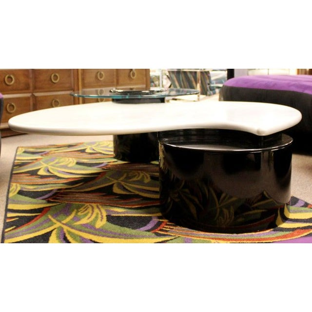 Postmodern Modernist Rougier Articulating 3-Tier Coffee Table, 1980s For Sale - Image 9 of 11