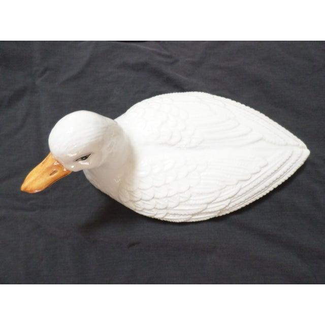 1960s Mottahedah Glazed Porcelain Duck Tureen For Sale - Image 5 of 12