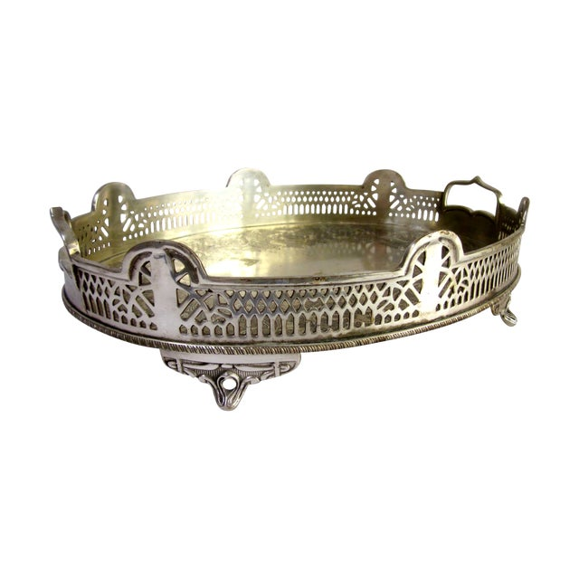 Ornate Silver Perfume Vanity Serving Tray - Image 1 of 8