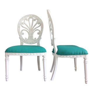 1950s Vintage Dining Chairs- A Pair For Sale