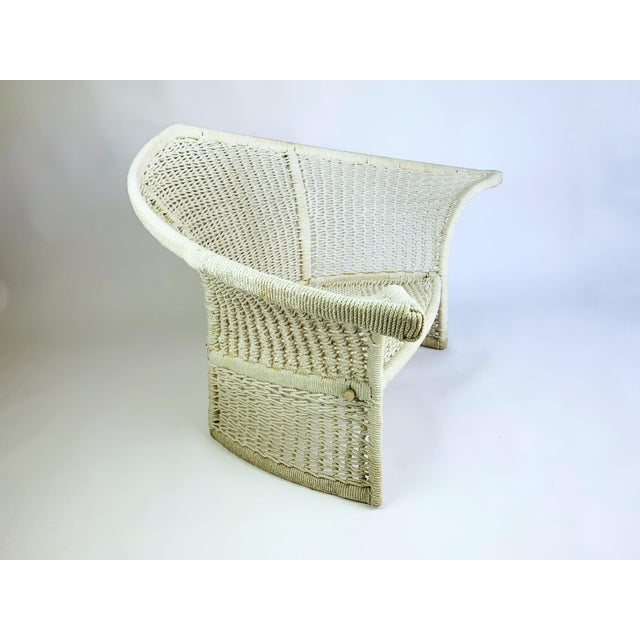 Vintage Rope Bird Lounge Coastal Chair Aft Bertoia For Sale - Image 11 of 13